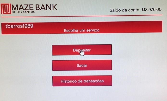 Deposite o dinheiro quando puder (Foto: Thiago Barros/TechTudo)
