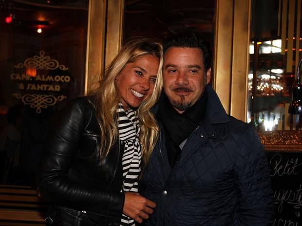 Adriane Galisteu e o marido, Alexandre Iódice, em festa em São Paulo (Foto: Paduardo/ Ag. News)