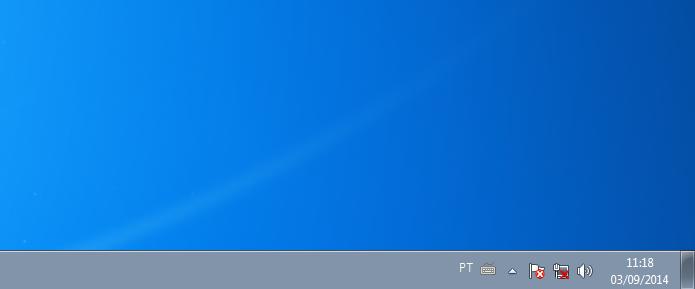 Windows mostrado que o computador está desconectado da rede local (Foto: Reprodução/Edivaldo Brito)