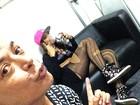 Anitta faz nebulização antes de show no Rio