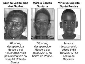 Desaparecidos Bahia (Foto: Divulgação/PC)