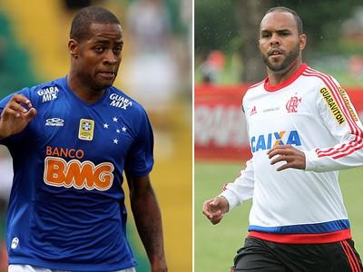 montagem Dedé e Alecsandro Flamengo cruzeiro (Foto: Editoria de Arte)