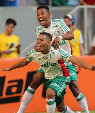 Gabriel Jesus gol Flamengo x Palmeiras (Foto: ANDRÉ DUSEK - AGÊNCIA ESTADO)