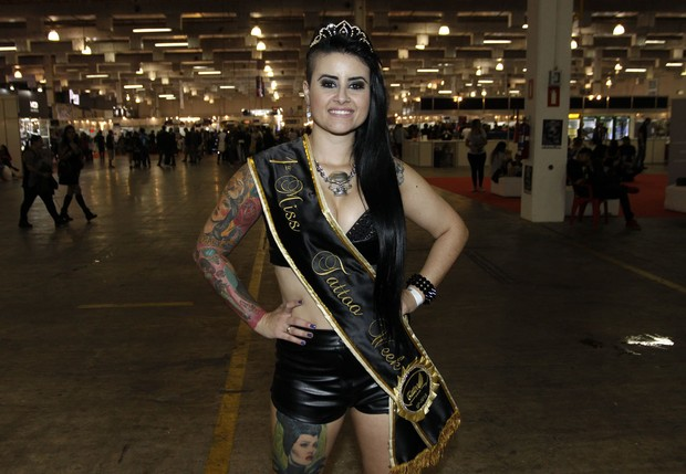 Aline Cândido - Miss Tatto Week (Foto: Celso Tavares/EGO)
