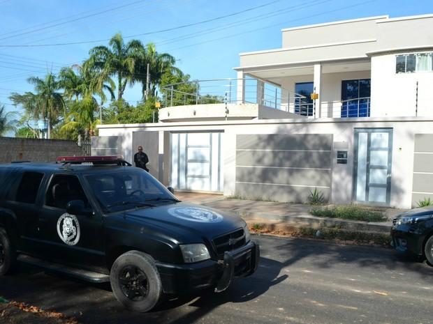 Casa do deputado Júnior Favacho teve buscas pela polícia (Foto: Jorge Abreu/G1)