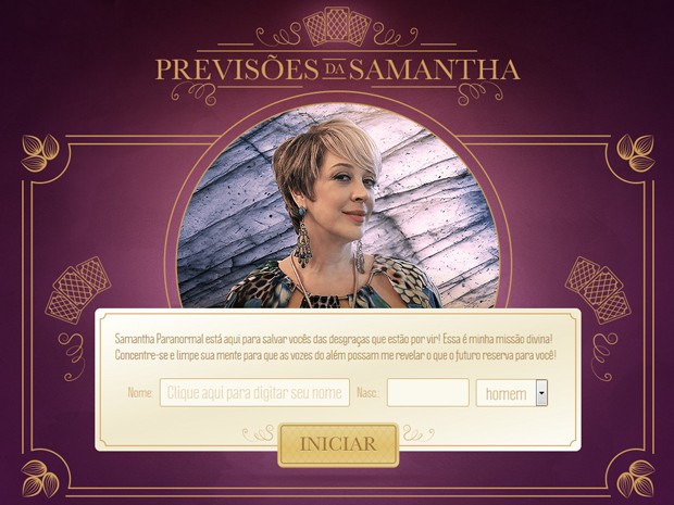 Aplicativo Previsões de Samantha (Foto: Gshow)