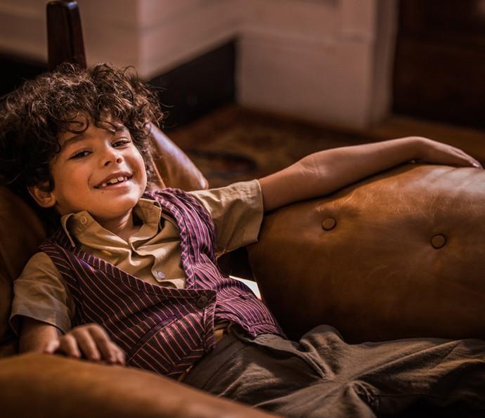 Martim era interpretado pelo pequenino Davi Caetano na primeira fase (Foto: Caiuá Franco/ Globo)