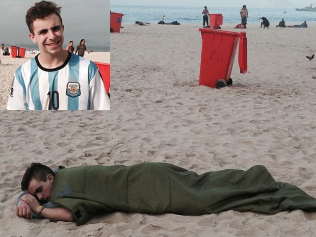 Axel Aguerrido ficará no Brasil por quase um mês (Foto: Daniel Silveira/G1)