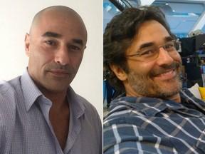 Sem e com cabelos: Luciano Szafir raspou cabeça e pelos nos braços e pernas (Foto: Reprodução do Instagram)