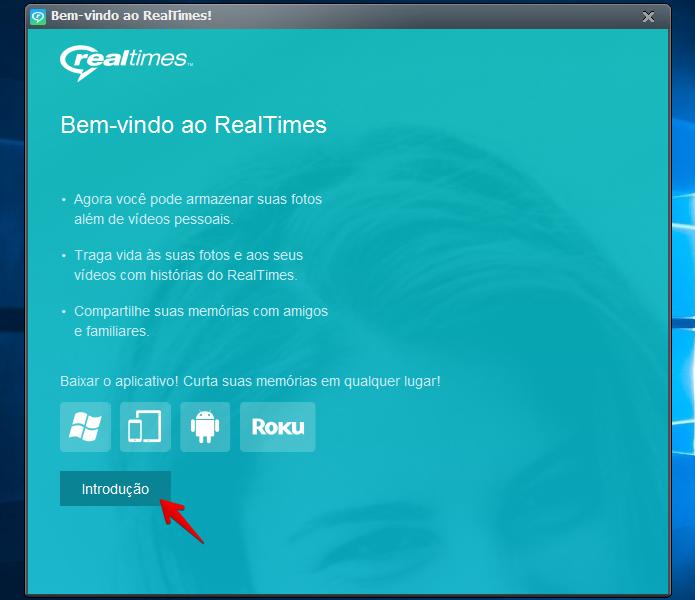Iniciando o RealPlayer pela primeira vez (Foto: Reprodução/Helito Bijora)
