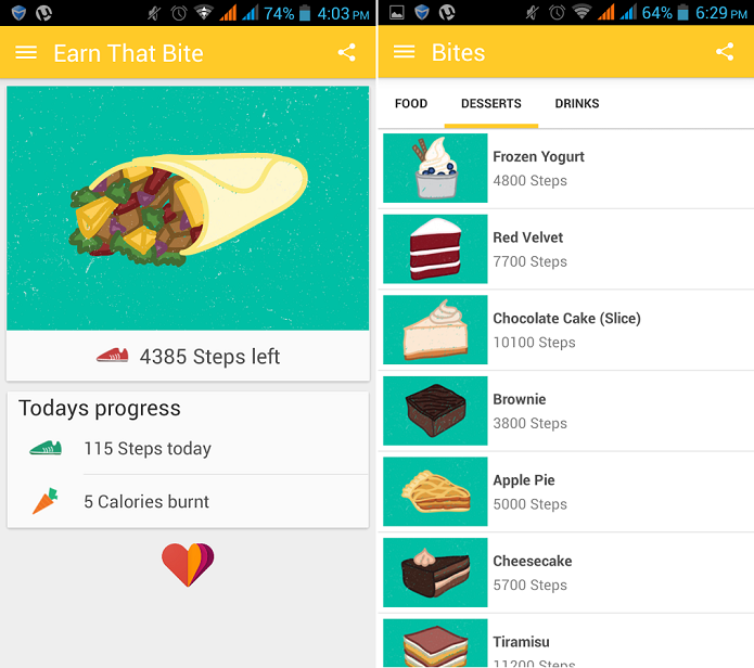 Earn That Bite é um aplicativo que ajuda a emagrecer (Foto: Divulgação)