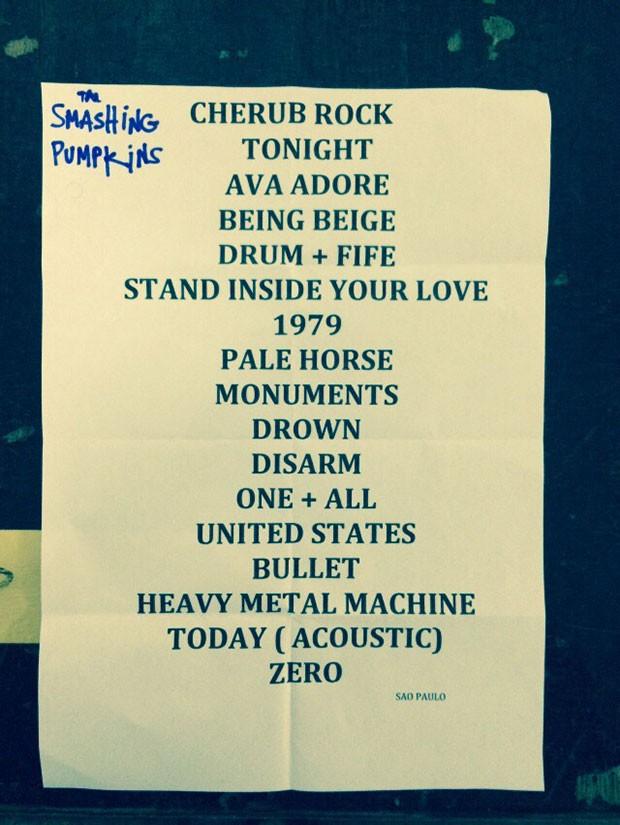 Setlist: Smashing Pumpkins no Lollapalooza Brasil 2015 (Foto: Multishow)