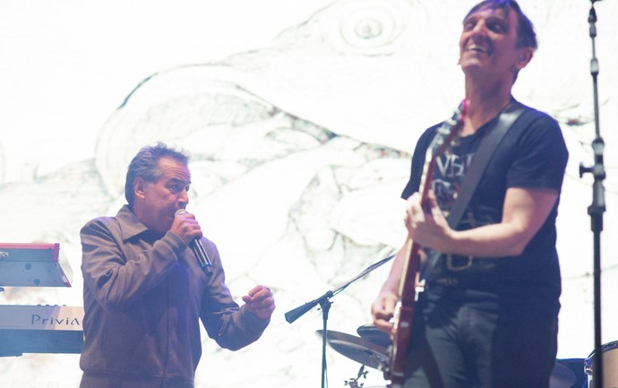 Nasi e Paulo Miklos cantam no palco 2002 do festival João Rock 2016 (Foto: Érico Andrade/Gshow)