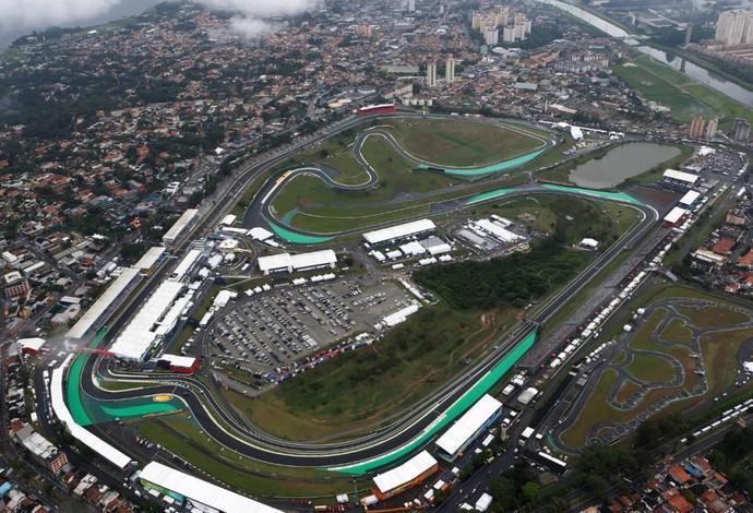 Imagem aérea do Circuito de Interlagos, palco do GP do Brasil de Fórmula 1 (Foto: Divulgação)