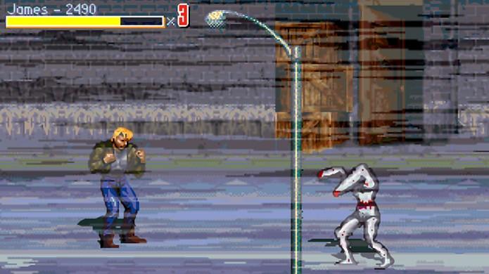 Streets of Rage: Silent Hill permite lutar contras as criaturas macabras da série no estilo beatem up (Foto: Reprodução/Siliconera)