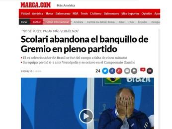 Marca, da Espanha, repercutiu reação de Felipão (Foto: Reprodução/Marca.com)