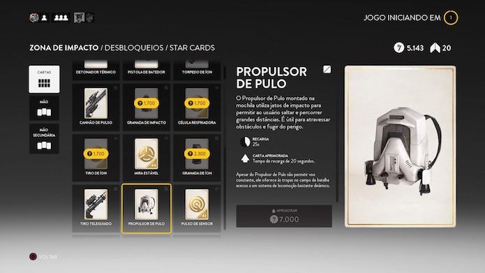 Invista seus créditos iniciais em Star Cards (Foto: Reprodução/Victor Teixeira)