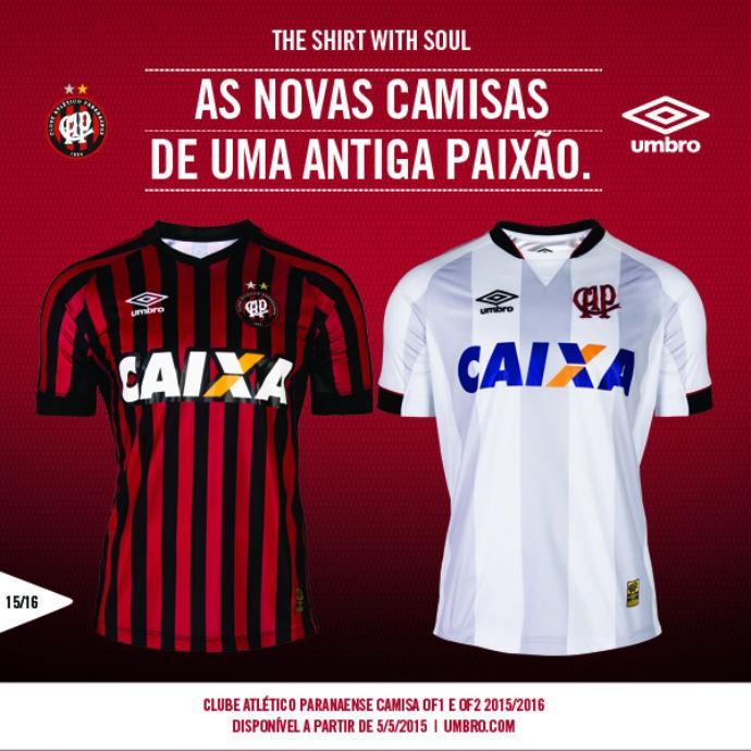 Atlético-PR apresenta as novas camisas para o Brasileirão de 2015 4c6f3cd2c97fc