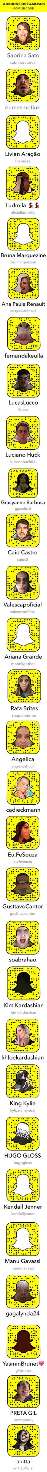 Snapchat dos Famosos (Foto: Ego)
