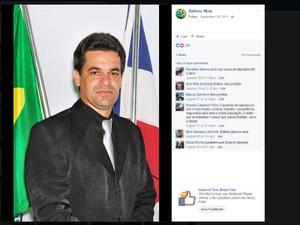 Prefeito de Presidente Tancredo Neves é candidato à reeleição (Foto: Reprodução/ Facebook)