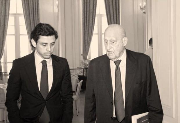 Marcos Motta ao lado de João Havelange (Foto: Francisco Almendra/studio KWO)