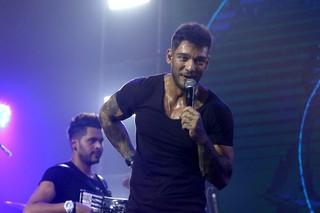 Lucas Lucco durante apresentação nesta quinta-feira, 28, na Brooks (Foto: Thiago Duran/AgNews)