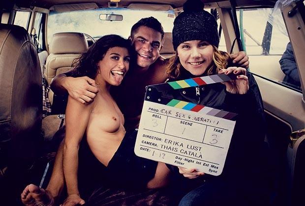 """Bastidores de """"Car Sex Generation"""", um dos curtas do XConfessions 4 (Foto: Reprodução)"""
