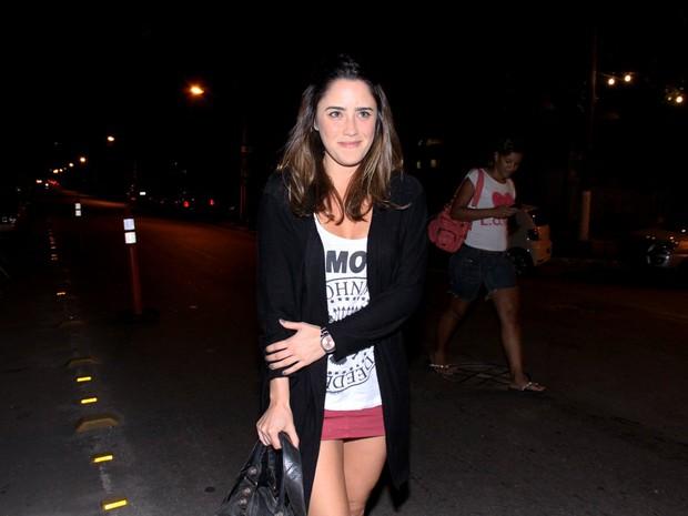 Fernanda Vasconcellos em festa no Rio (Foto: Alex Palarea/ Ag. News)