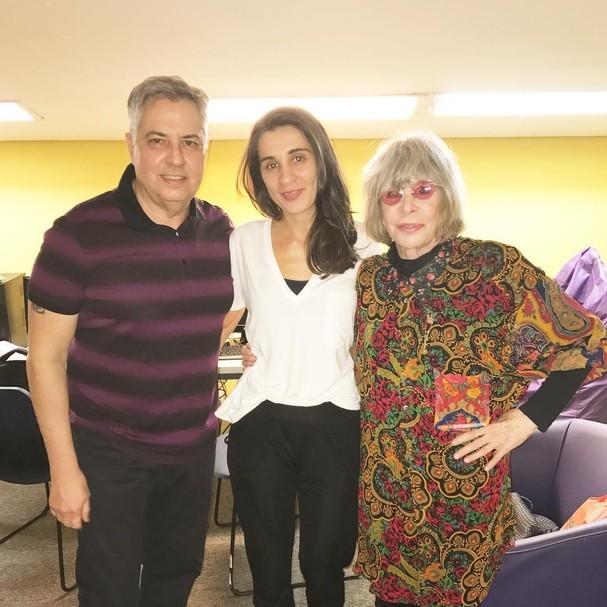 Roberto Carvalho, Rita Lee e Camila Fremder (Foto: Reprodução/Instagram)