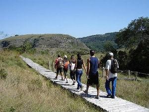 Parque oferece dois tipos de trilha (Foto: Divulgação/Prefeitura de Tibagi)