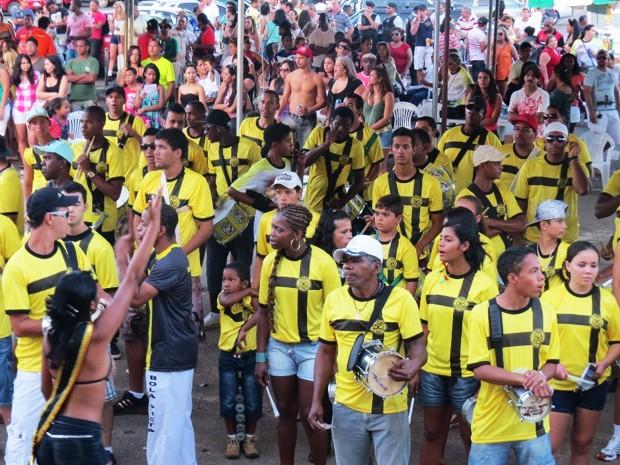 Ensaio da escola de samba Bola Preta de Sobradinho para o carnaval 2015 (Foto: Bola Preta de Sobradinho/Divulgação)
