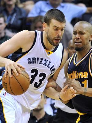 Marc Gasol Grizzlies x Pacers NBA - AP (Foto: AP)