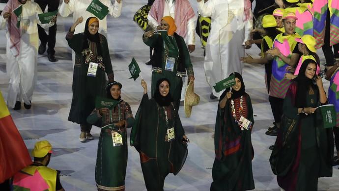 Arábia Saudita mulheres Rio 2016 (Foto: AP)