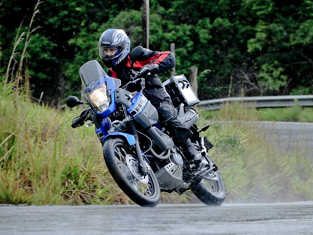 Yamaha revive o passado com a nova Ténéré (Foto: Raul Zito/ G1)