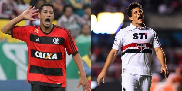 Flamengo e São Paulo 220 124 (Foto: Marcelo Carnaval/Agência O Globo/Marcos Ribolli/Reprodução globoesporte.com)
