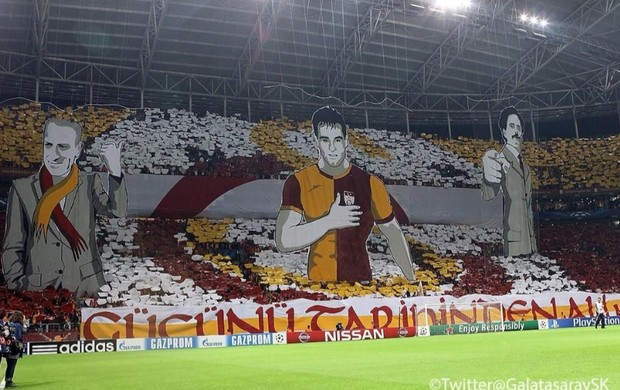 mosaico 3D galatasaray (Foto: Reprodução Twitter Galatasaray)