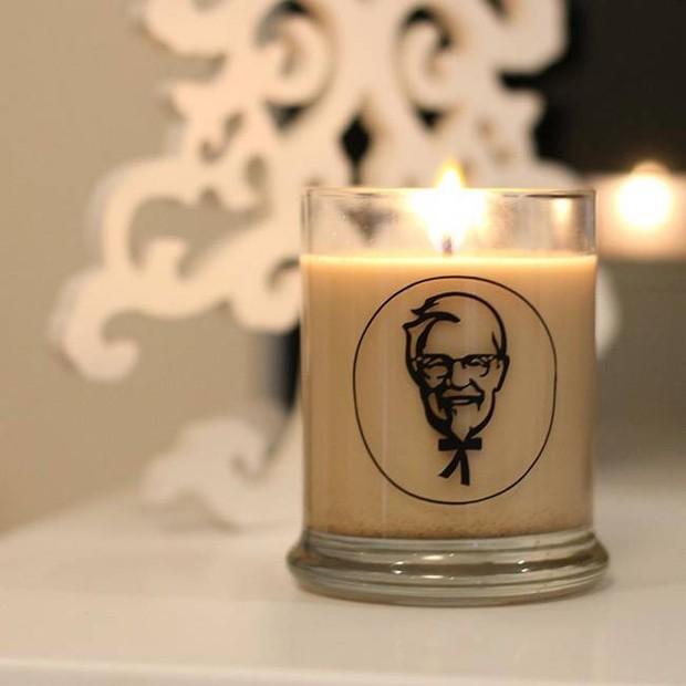 Vela de frango frito da KFC (Foto: Divulgação)