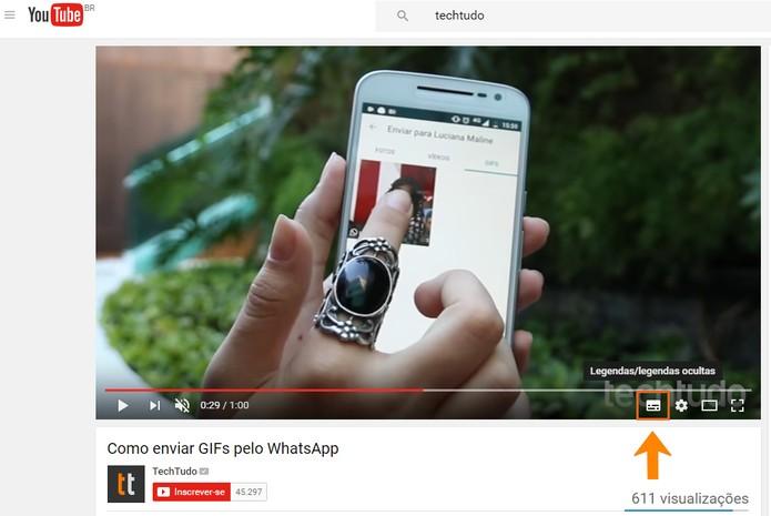 Você pode desativar as legendas nos vídeos do YouTube quando preferir (Foto: Reprodução/Barbara Mannara)