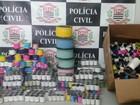 Polícia Civil apreende 710 carretéis de 'linha chilena' em Taubaté, SP