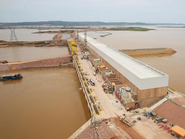 Jirau se torna a terceira maior geradora de energia do país com 45º turbina (Foto: ESBR/Divulgação)