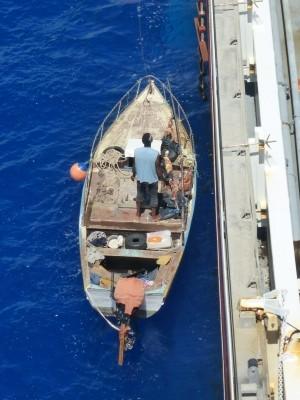 Africano afirma que outras embarcações ignoraram seus pedidos de socorro (Foto: Patricia Anhas / Arquivo Pessoal)