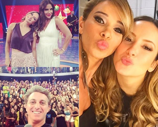 Huck faz selfie com plateia e Bananinha tieta (Foto: Arquivo Pessoal)