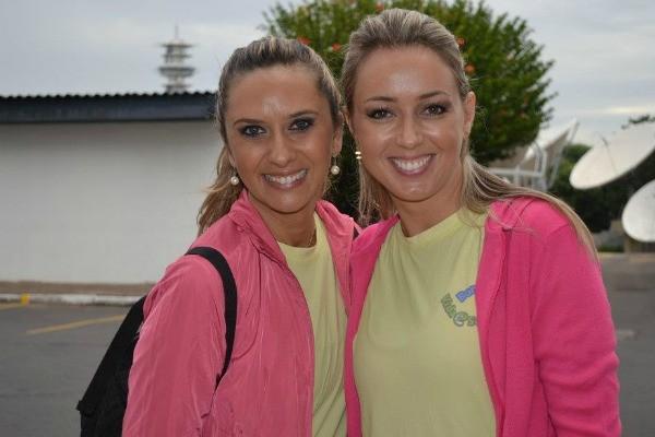 Carla Fachim e Debóra de Oliveira encararam o desafio com garra (Foto: Divulgação, RBS TV)