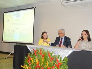 Coletiva apresentou programação da Bienal de Alagoas. (Foto: Carolina Sanches/ G1)