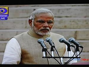 O novo primeiro-ministro da Índia, o hinduísta Narendra Modi, toma posse nesta segunda-feira (26) em Nova Déli (Foto: AFP)