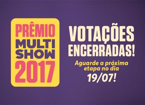 Votaes da 1 fase do Prmio Multishow esto encerradas; veja a live com os indicados no dia 19/7, no Facebook do Multishow (Foto: Multishow)
