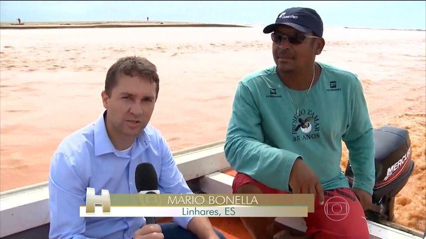 Mario Bonella, no Jornal Hoje (Foto: Divulgação/ TV Gazeta)