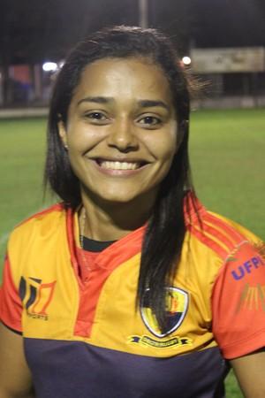 Patrícia Carvalho, atleta do Delta Rugby (Foto: Emanuele Madeira/GLOBOESPORTE.COM)