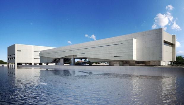 Modelo do Cais das Artes, Vitória, METRO Arquitetos (Foto: divulgação)