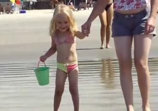 Grazielly Lames, foi atropelada quando brincava na Praia de Guaratuba (Foto: Reprodução/TV Tribuna)